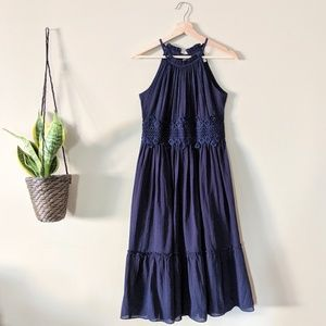 ELIZA J Navy Blue Halter Sundress Size 2